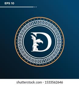 Letter D logo Vintage . Letter D minimalis. Letter D logo Designs. Letter D Retro