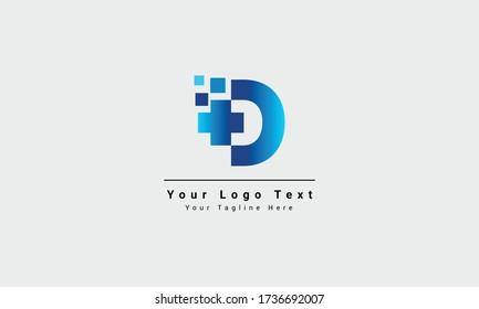 letter D medical logo illustration. Modern Vector Logo Letter D. D Medical Doctor Letter Design Vector. D cross plus hospital medical logo design