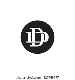 letter D and D monogram circle logo