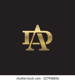 letter D and A monogram golden logo