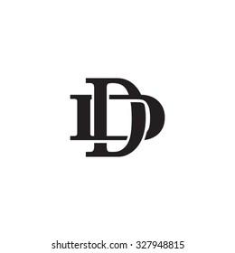 letter D and D monogram logo