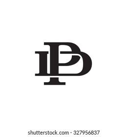 letter D and P monogram logo