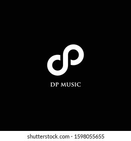 Letter D and P Music Logo Icon Design Template Elements