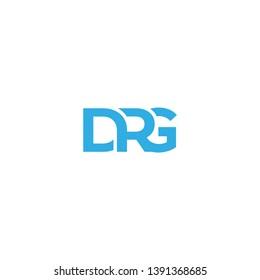 letter D R G icon logo design concept