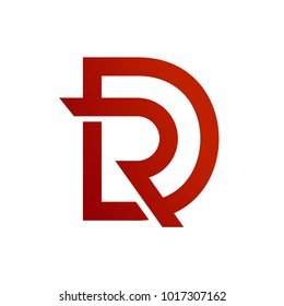 Letter D and R Initial Logo Template