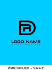 Letter D & R logo template vector