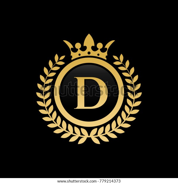 Letter D Royal Crown Logo Stock Vector (Royalty Free