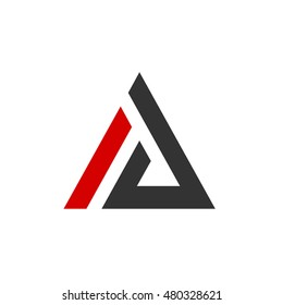 letter i d triangle
