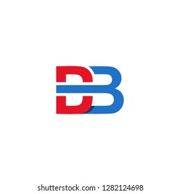 Letter DB graphic, DB letter logo vector design. initial letter DB logo template.