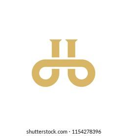Letter db logo design vector