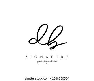 Letter DB Signature Logo - Vector