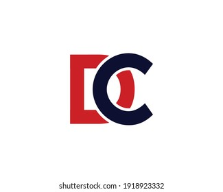 letter dc and cd logo design vector template