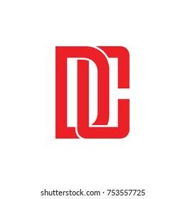 letter dc linked 3d design logo vector