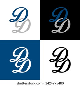 Letter DD for company and DD logo