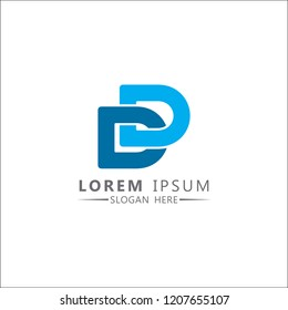 Letter DD Logo Design Vector Template