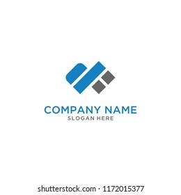 Letter DF logo design