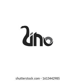 letter dinosaur Brontosaurus logo vector template