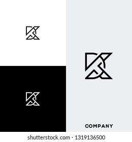letter DK or KD logo designs