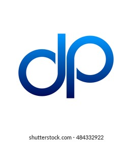 letter dp blue logo