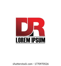 Letter DR logo icon design vector. monogram logo vector illustration