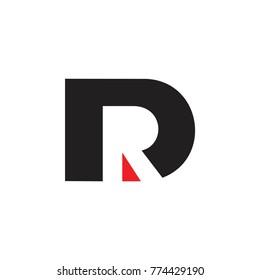 letter dr negative space design logo vetor