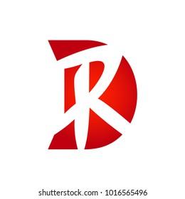 Letter DR or letter RD initial alphabet Logo design Template