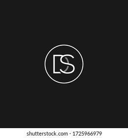 Letter DS or SD minimal logo vector icon