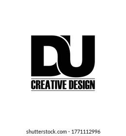 Letter DU logo icon design vector. monogram logo vector illustration