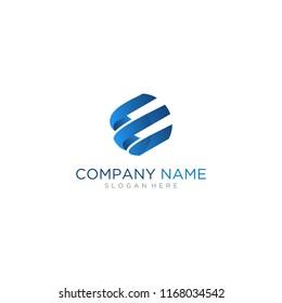 Letter E capital logo design