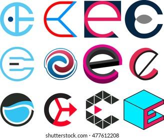 letter of e design logo template