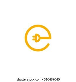 Letter E Electricity Symbol Vector