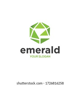 Letter e and emerald or diamond logo combination. Simple and elegant logo design.