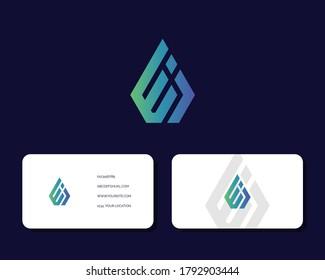 Letter E J logo design with business card vector template. creative minimal monochrome monogram symbol. Premium business logotype. Graphic alphabet symbol for corporate identity