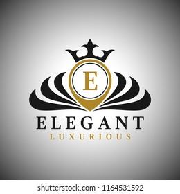 Letter E Logo - Classic Luxurious Style Logo Template