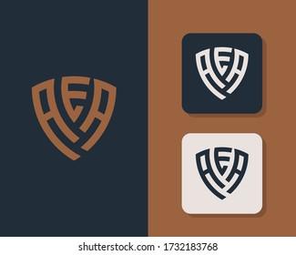 Letter A E A logo design. creative minimal monochrome monogram symbol. Universal elegant vector emblem. Premium business logotype. Graphic alphabet symbol for corporate identity