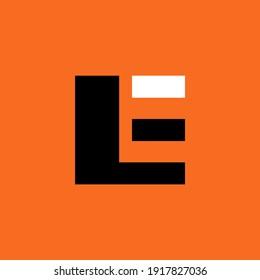 Letter E logo icon design element template