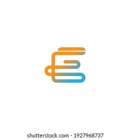 Letter E  logo icon design vector illustration template