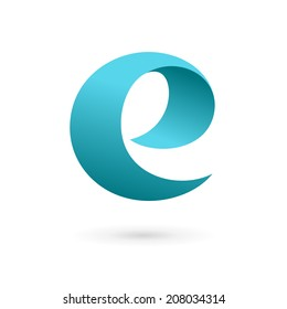 Letter E logo icon design template elements. Vector color sign.