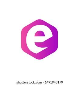 Letter E logo in lowercase vector
