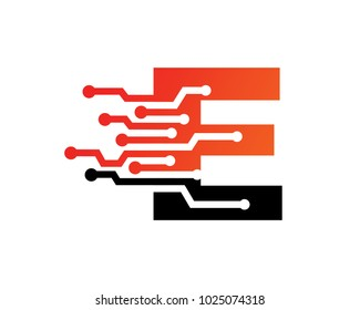 Letter E Logo Template Design, Emblem, Design Concept, Creative Symbol, Icon