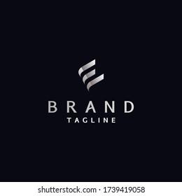 Letter E Logo Template Resembles Book Shape