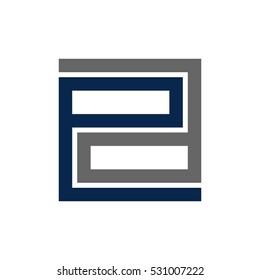 letter E and A logo vector