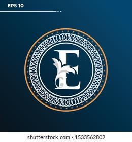 Letter E logo Vintage . Letter E minimalis. Letter E logo Designs. Letter E Retro