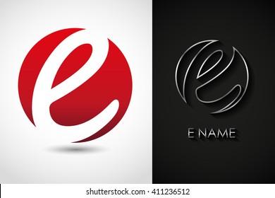 Letter E logo.Alphabet logo design.Vector logo template.