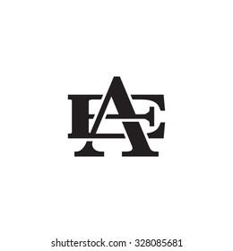 letter E and A monogram logo