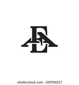 letter A and E monogram logo