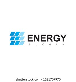 Letter E, Solar Energy Logo Design Template