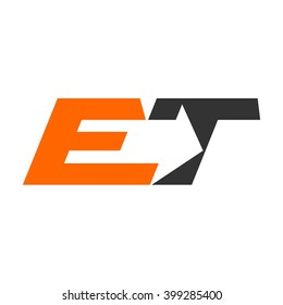 letter E and T logo vector.