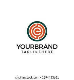 letter e Technology logo design concept template vector