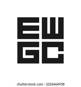 letter e w g c  vector logo